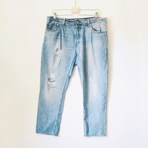 Levi's White Cone Oak Wedgie Buttonfly Jeans 32